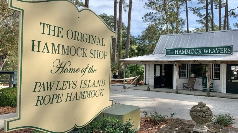 Hammock Shops Welcome Sign