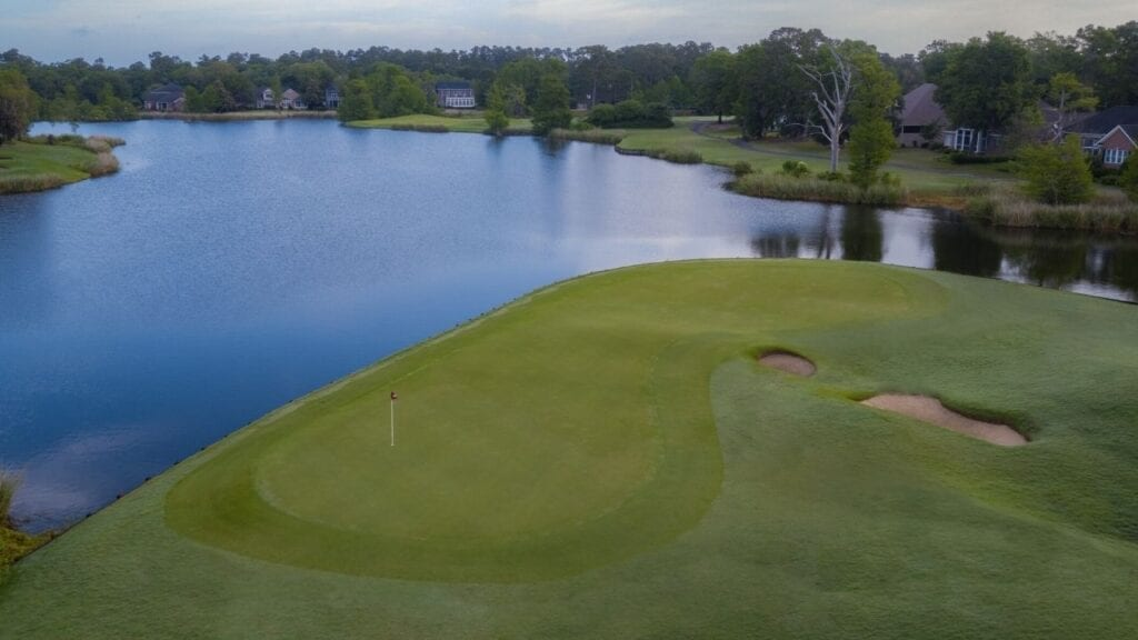 Drone of Heritage Golf Course Hole 13