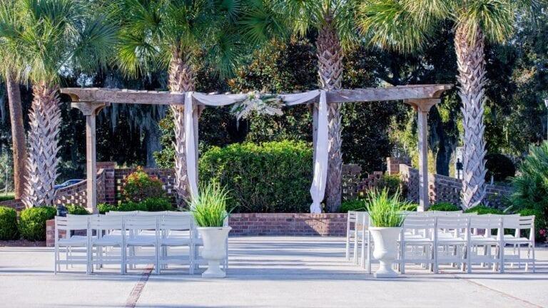 Wedding Ceremony in Courtyard