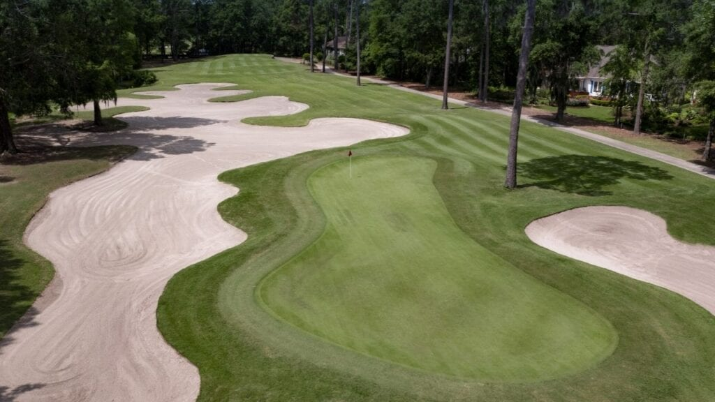 Drone of Hole 7 at Pawleys Plantation Golf Course