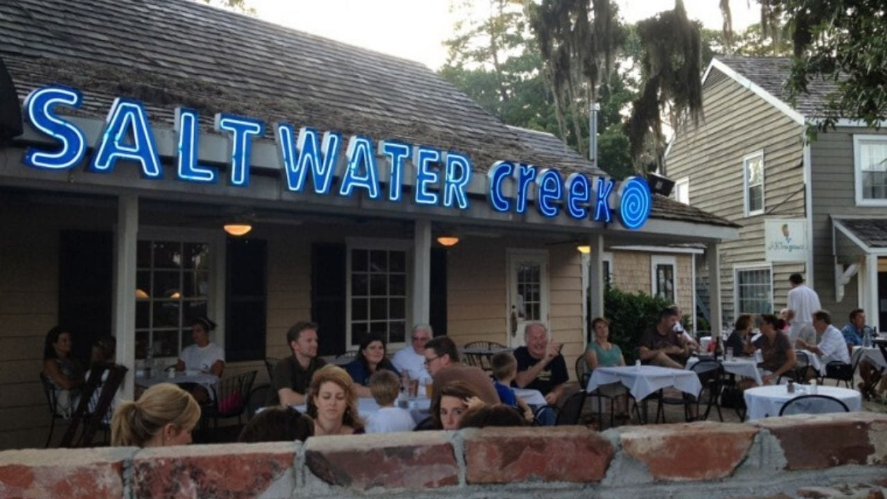 Outside of the salt water creek cafe