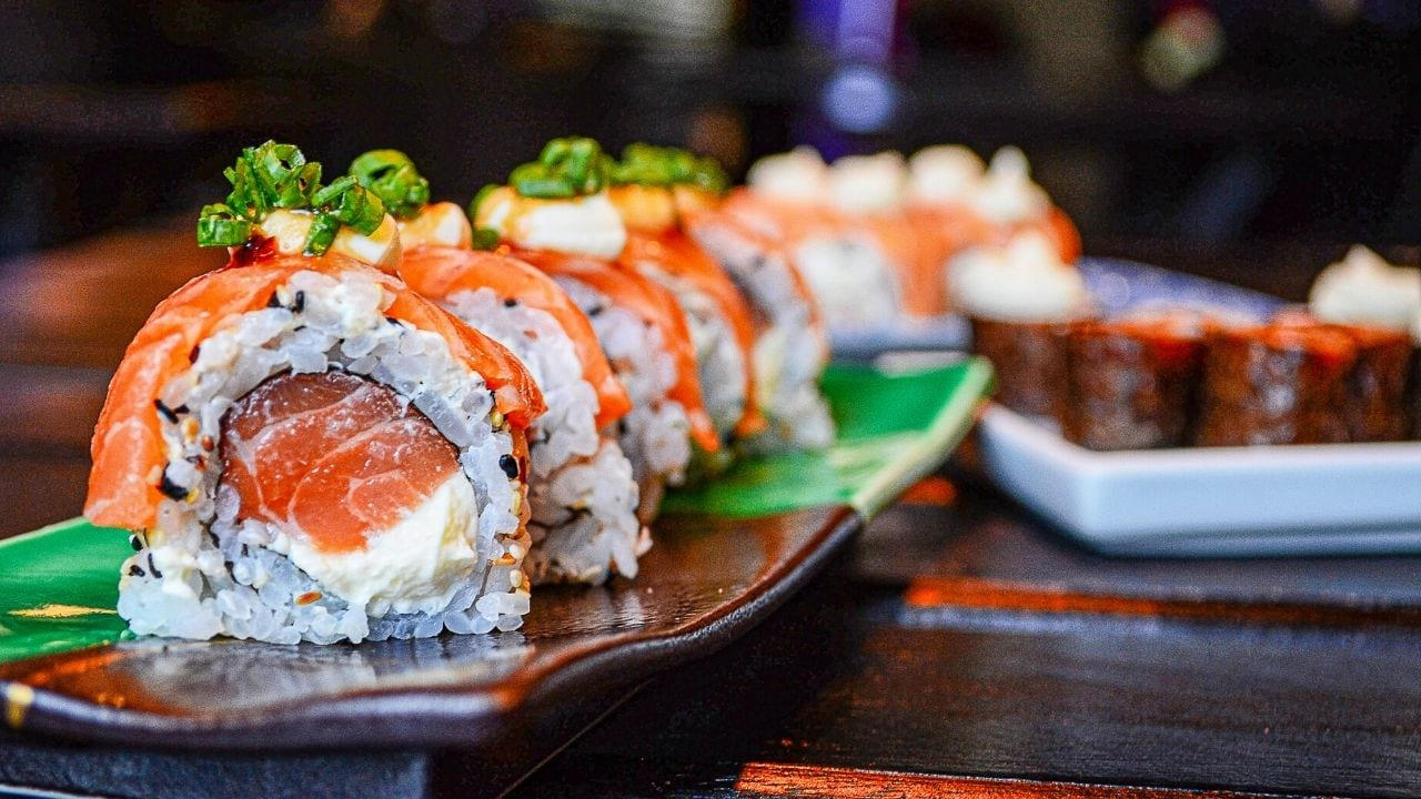 Sushi Roll Up Close