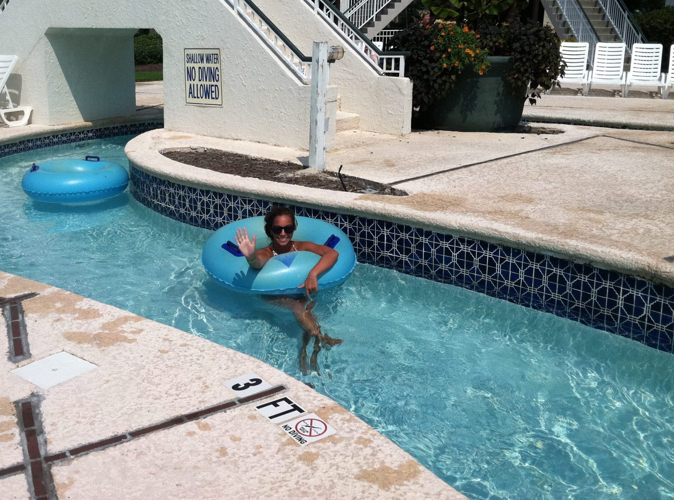 Girl in Lazy River at Litchfield