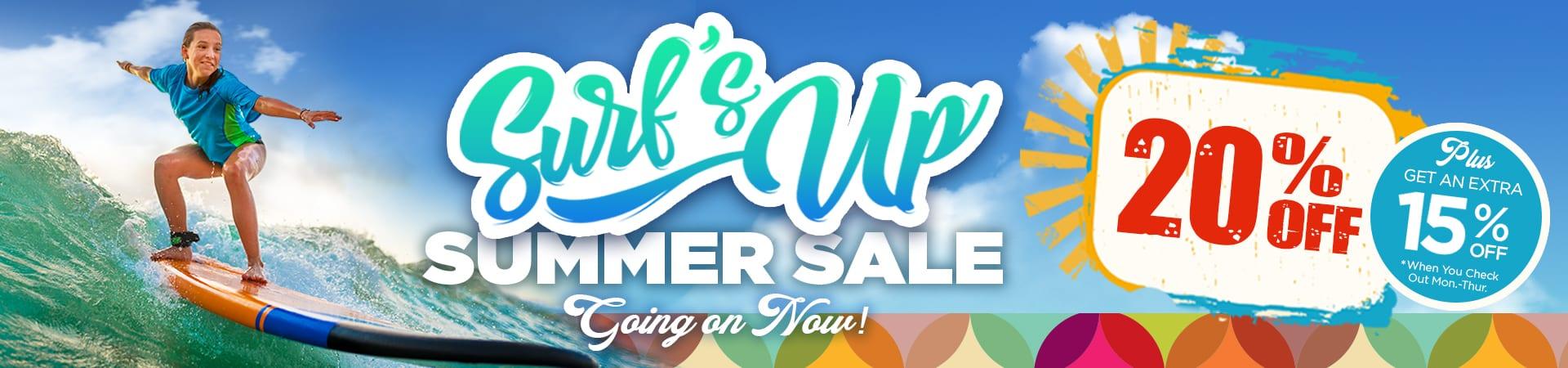 Surf's Up Summer Sale